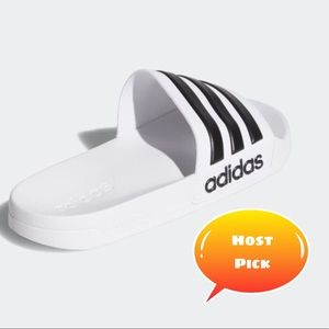 Men's  Adidas sandals white and black size 8